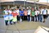 """Desarrolladores de los talleres ambientales en la Unidad Educativa """"Martha Hurtado Silva"""""""