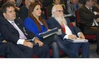 Lic. Gabriela Lara, Directora General de la EMAP junto al Dr. William Soto Santiago, Embajador Mundial de la Paz.