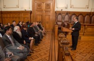 International committee of the Global Embassy of Activists for Peace visit the Supreme Court of Justice in Chile on November 3rd, 2015, to celebrate CUMIPAZ 2015 in Santiago.