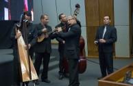Parte de la orquesta de la Embajada Mundial de Activistas por la Paz (OSEMAP).