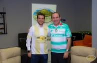 Club deportivo firma convenio con la EMAP en material social