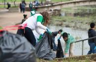 Guardianes por la Paz de la Madre Tierra fueron invitados a participar en la Gran Limpieza Anual del Río San Marcos, en Texas, Estados Unidos