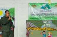 Teniente Roger González, apoya campañas de concienciación con el ambiente