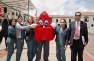 Gotito animó a los estudiantes y director de la UPTC a donar la Savia de la Vida en Tunja
