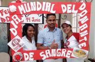 Activistas celebraron el día mundial del donante en Barranquilla