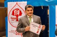 Secretario general del senado Gregorio Eljach Pacheco, supervisa jornada de donación de sangre en el Congreso
