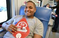 Volunteer Donating Blood Smiling