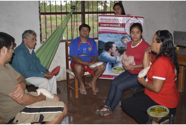 Sesiones educativas de ámbito familiar en la comunidad Magdalena