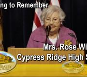 Educating to Remember - Mrs. Rose Williams - Cypress Ridge High School | GEAP
